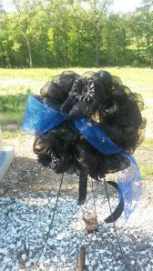thin blue line wreath